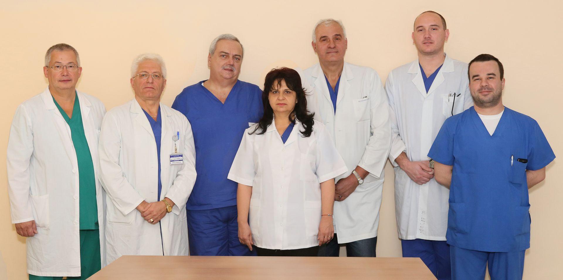 Колектив на катедра по неврохирургия, Медицински университет - Пловдив