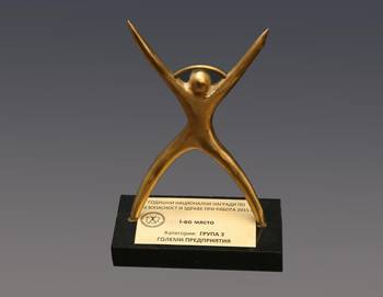 """Първо място в """"Годишни национални награди по безопасност и здраве при работа"""""""