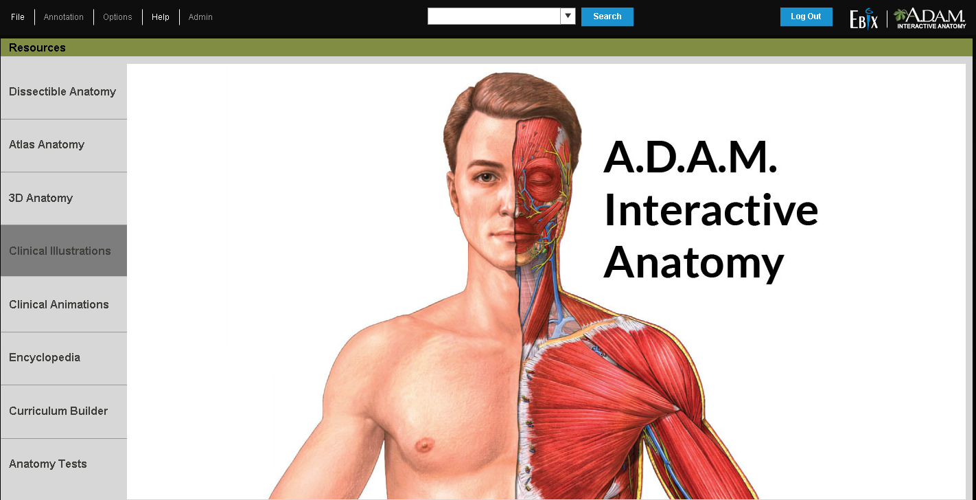 Make studying easier by using A. D. A. M. Interactive Anatomy and ...