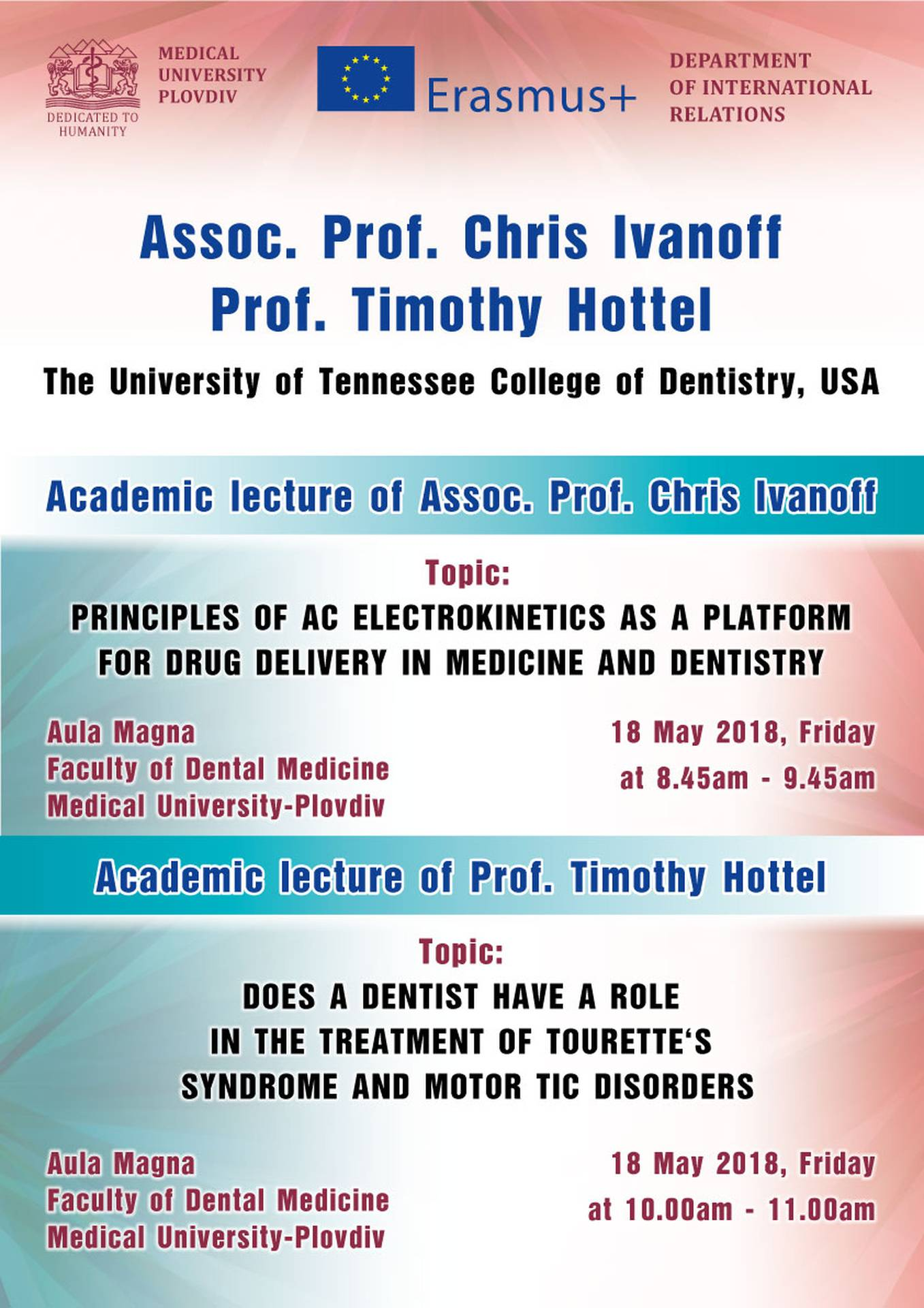 Invitation For Academic Lectures Medical University Of Plovdiv