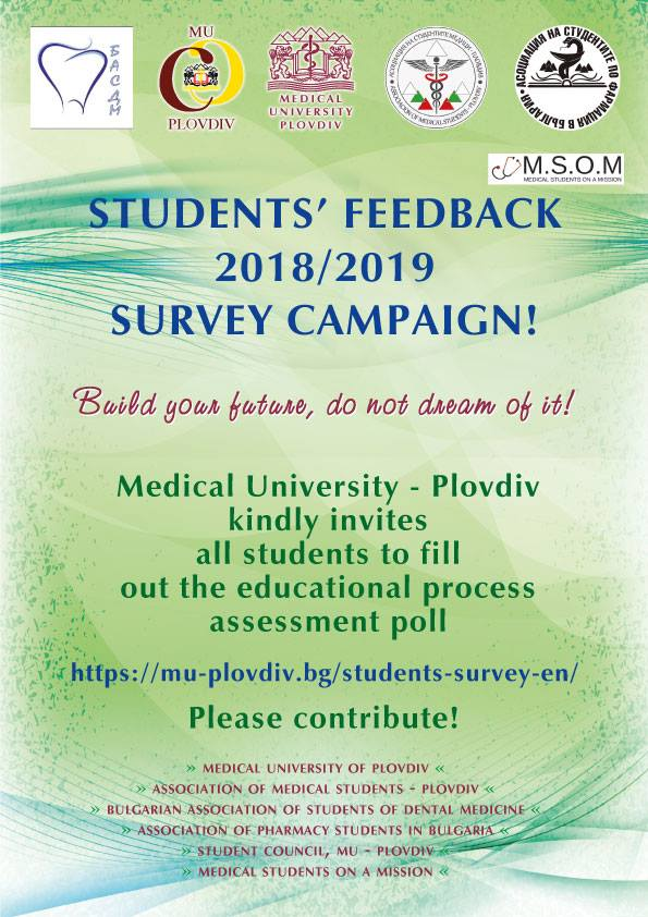 Student's feedback - Medical University of Plovdiv