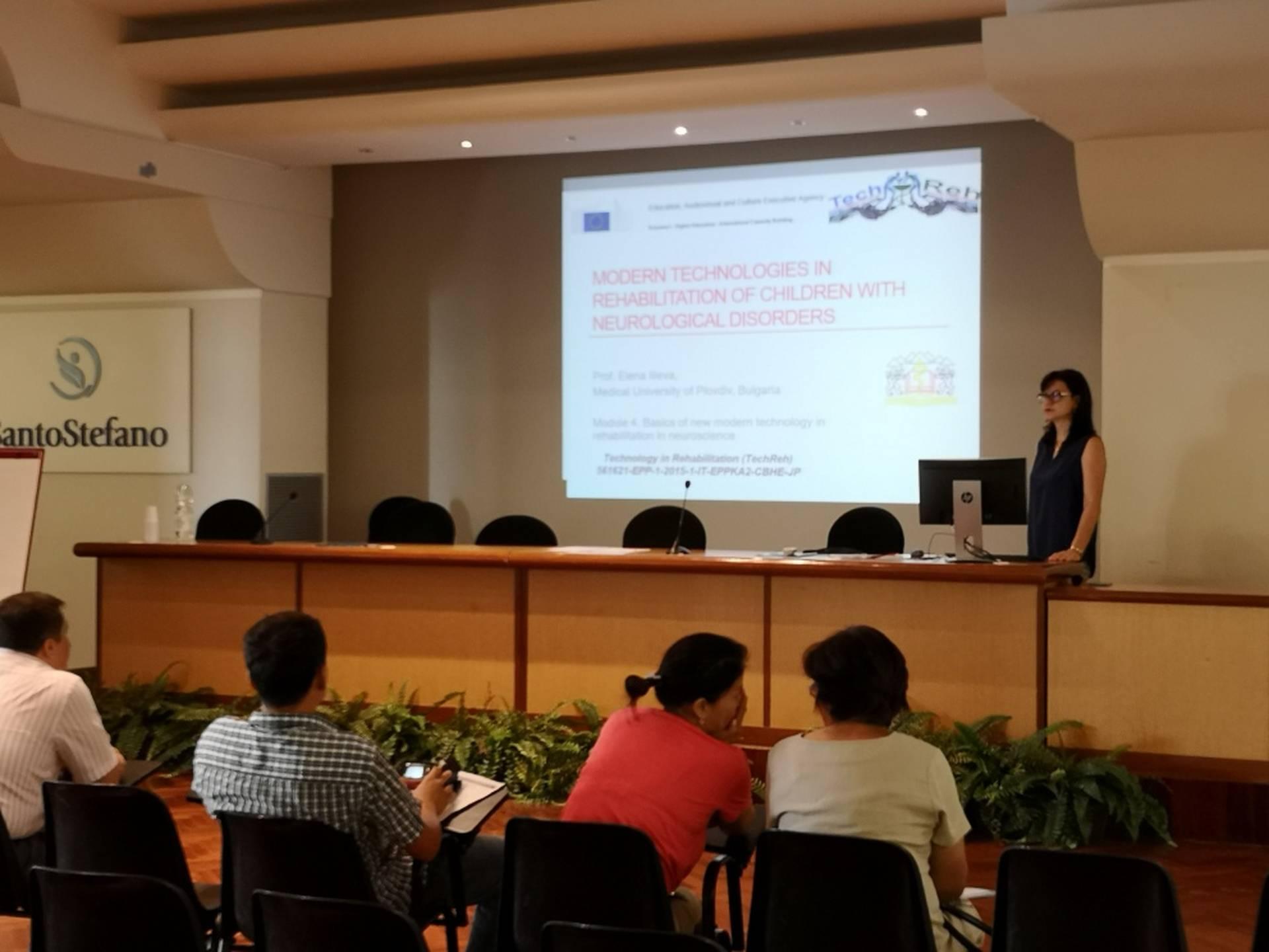 Обучение с провеждане на практически стаж, Институт Санто Стефано, Porto potenza, Италия, август-септ. 2018